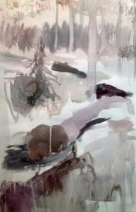 Ensilumi, akvarellityö