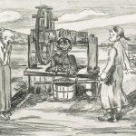 Piru kaivossa, Hugo Simberg, grafiikka 1911