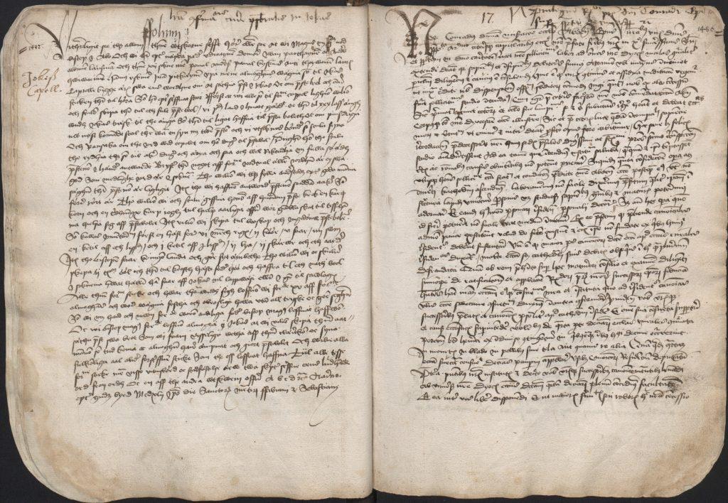 Juvan seurakunnan perustamisasiakirja vuodelta 1442.